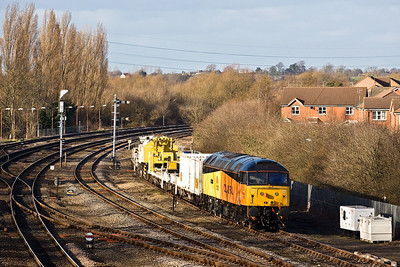 47727 is stabled in the siding opposite Banbury North SB after arriving with 6Z47 1150 Crewe-Banbury on 26/02/2008.