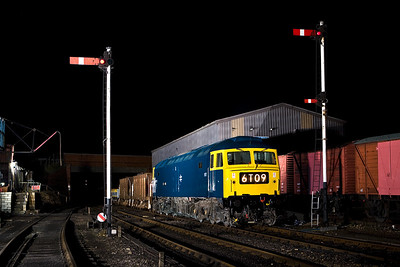 47270 stands at Wansford with a short permanent way train on 23/02/2008.