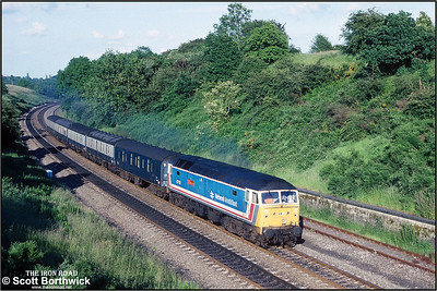 47573 'The London Standard' climbs Hatton bank whilst working 1M85 1432 Tonbridge SS-Preston PCD on 01/07/1991.