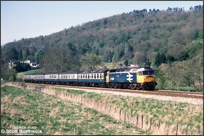 47564 powers 2O60 1615 Bristol Temple Meads-Weymouth at Claverton on 23/04/1988.