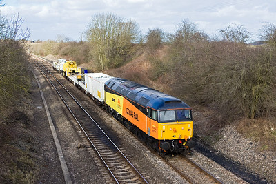 47727 passes Cropredy whilst working 6Z47 1150 Crewe-Banbury on 26/02/2008.