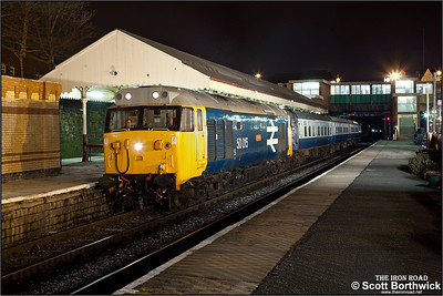 50015 'Valiant' stands at Bury Bolton Street during an EMRPS Photo Charter on 29/01/2011.