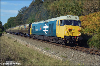 50035 'Ark Royal' is pictured at Northwood Lane whilst working the 1405 Bridgnorth-Kidderminster on 04/10/2002.