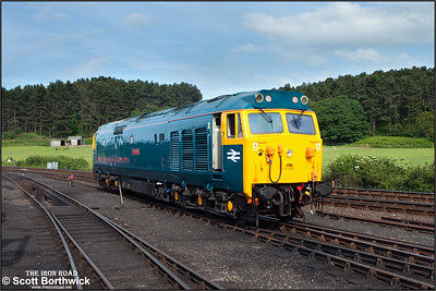 50007 'Hercules' works onto Weybourne TMD on 12/06/2014 after arriving in the loco convoy from Washwood Heath in connection with the North Norfolk Railway's diesel gala which began the following day.
