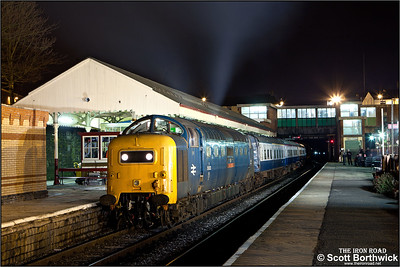 55022 'Royal Scots Grey' stands at Bury Bolton Street during an EMRPS Photo Charter on 29/01/2011.