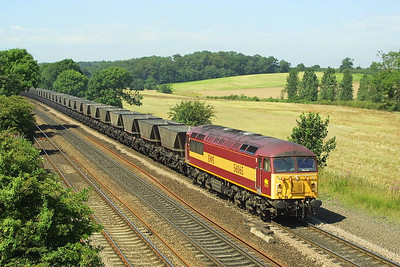 56065 passes Melton Ross on 26/07/2002 whilst in charge of 6C73 1040 Scunthorpe BSC CHP-Immingham Coal Terminal.