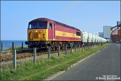 56119 is pictured at the North Blyth terminal awaiting departure to Lynemouth with 6N69 1524 North Blyth-Lynemouth on 11/09/2002.