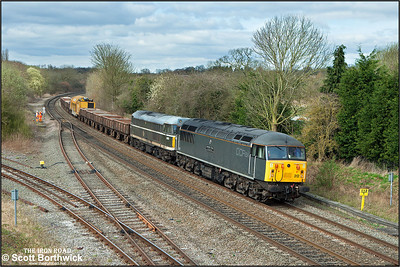 56312 top and tails 31190 at Hatton whilst working 6Z42 0923 Chaddesden Sdgs-Eastleigh T&RSMD railvac move on 17/03/2014.