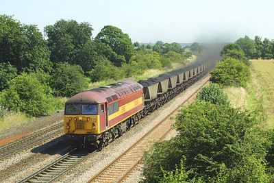 56060 passes Melton Ross on 26/07/2002 whilst working 7C76 1220 Immingham Coal Terminal-Scunthorpe BSC CHP.