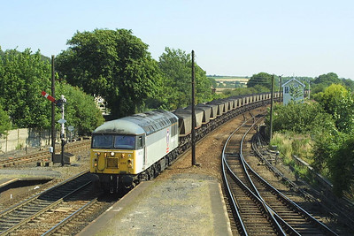 56070 passes Barnetby on 26/07/2002 with 7C75 1044 Immingham Coal Terminal-Scunthorpe BSC CHP.