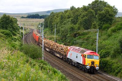 57316 passes Greenholme whilst working 6J37 1327 Carlisle Yard-Chirk on 17/07/2007.