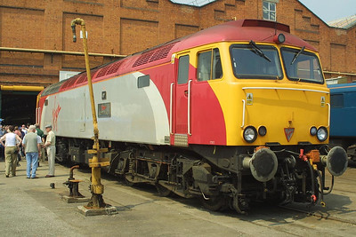 Virgin Thunderbird, 57301 'Scott Tracy' pictured at Crewe Works Open Weekend on 31/05/2003.