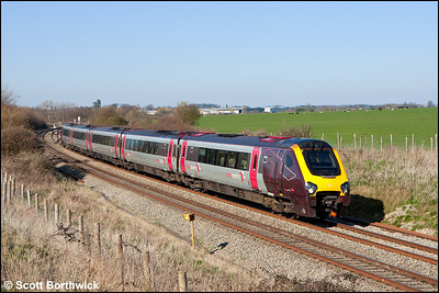 221132 forms 1V58 0900 Glasgow Central-Penzance at Abbotswood Jnct on 26/03/2012.