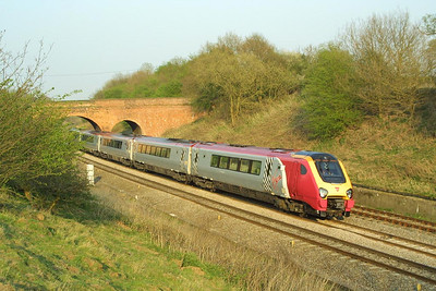 221110 heads up Hatton bank on the evening of 16/04/2003.