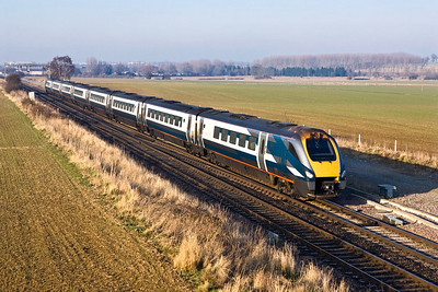 222002 passes Harrowden Jnct on 18/02/2008 whilst forming 1C40 1434 Derby-London St Pancras International.