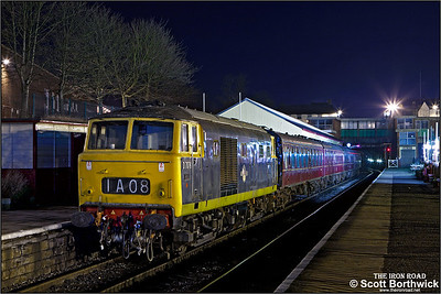 D7076 awaits departure from Bury Bolton Street on 16/02/2013.
