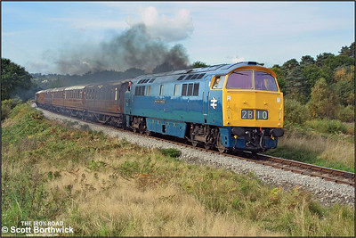D1013 'Western Ranger' nears Foley Park Tunnel clagging nicely whilst working the 1105 Bridgnorth-Kidderminster service during the SVR 2002 Autumn Diesel Gala on 04/10/2002.