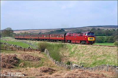 D1015 'Western Champion' passes Moorgates with 2P13 1530 Grosmont-Pickering on 09/05/2008 .