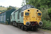 Class 37 Diesel Locomotive number 37 037 is seen at Buckfastleigh.<br /> 5th August 2014