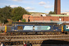 Class 37 Diesel Locomotive number 37 059 at Barrow Hill on display at Model Rail Live 2012.<br /> 22nd September 2012