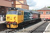 "Class 50 Diesel Locomotive number 50 049 named ""Defiance"" stabled at Kidderminster.<br /> 18th May 2017"