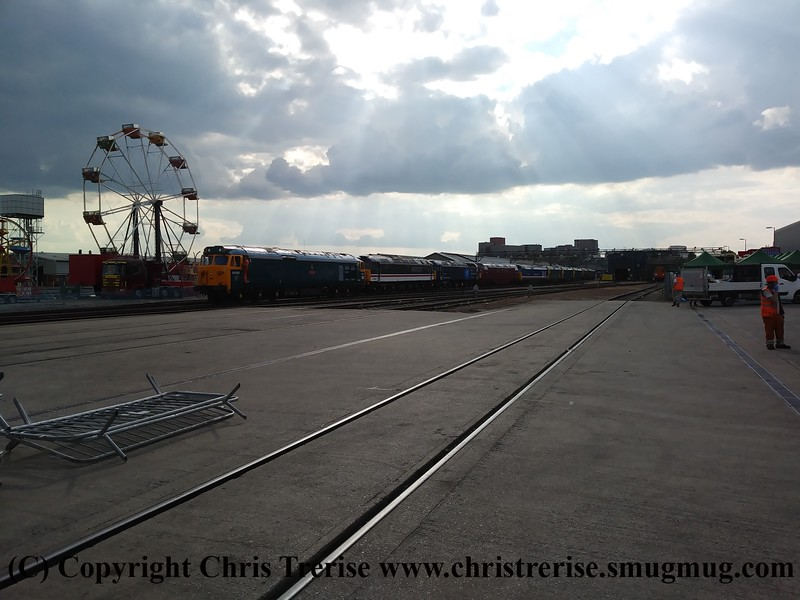 Locomotives being positioned at Old Oak Common ready for the open day the following day.<br /> 1st September 2017
