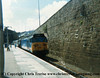 "Class 50 Diesel Locomotive number 50 050 named ""Fearless"" awaits departure from Penzance with the 1410 to Plymouth.  Mother waits by the door of the first coach fretting that I am going to miss it!<br /> 23rd August 1987"