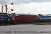 """Class 50 Diesel Locomotive number 50 050 named """"Fearless"""" shunts exhibits at Old Oak Common, including 47 828, 47 813, D821, 50 026 """"Indomitable"""", 50 007 """"Hercules""""<br /> 1st September 2017"""