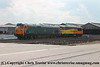 "Class 50 Diesel Locomotive number 50 050 named ""Fearless"" positions Class 56 number 56 049 at Old Oak Common.<br /> 1st September 2017"