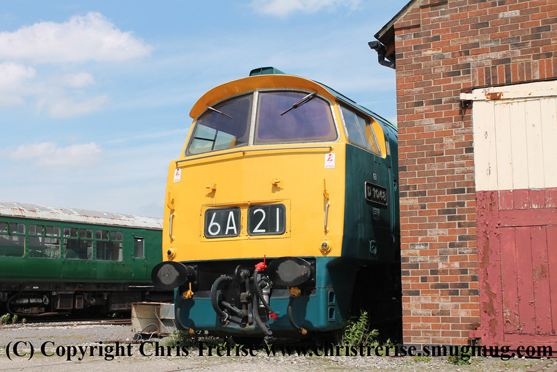 """Class 52 Diesel Locomotive number D1048 named """"Western Lady"""" at Swanwick Junction.<br /> 27th May 2013"""