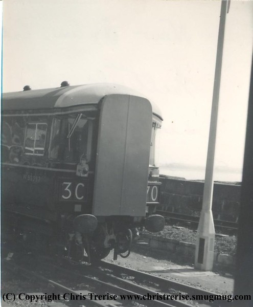 Class 123 Driving Motor Brake Second number W52087 at Penzance in May 1963.<br /> Copyright Frank Spence.