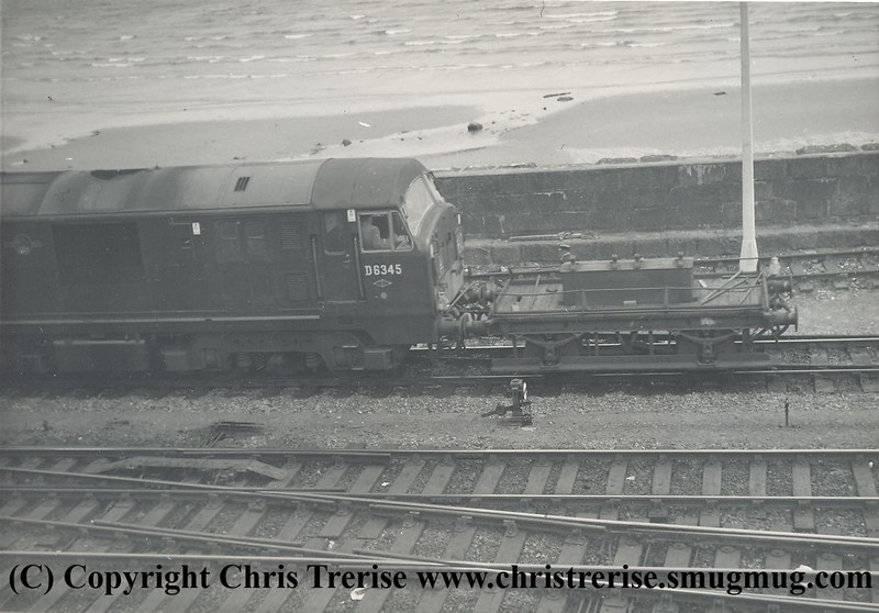 Class 22 Diesel Hydraulic Locomotive number D6345 at Penzance in May 1963.<br /> Copyright Frank Spence.