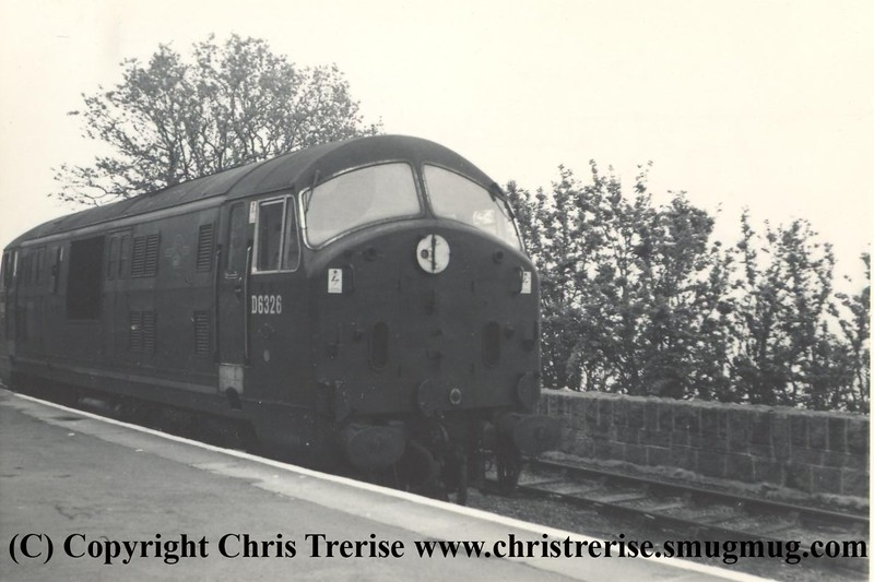 Class 22 Diesel Hydraulic Locomotive number D6326 at St Ives on 1st June 1963.<br /> Copyright Frank Spence.