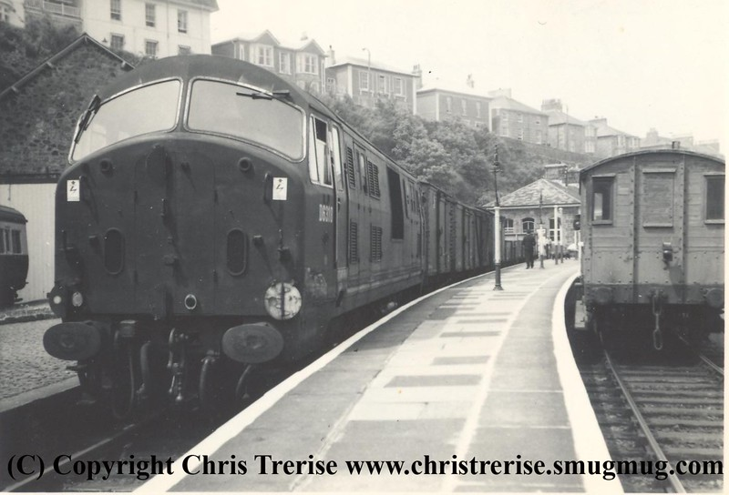 Class 22 Diesel Hydraulic Locomotive number D6318 at St Ives on 1st June 1963.<br /> Copyright Frank Spence.