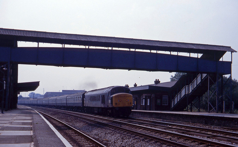 46034, up, Tiverton Junction, 4-9-81.