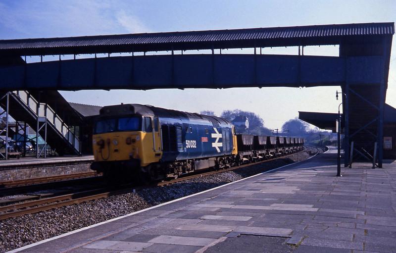 50032, up ballast, Tiverton Junction, 20-4-82.
