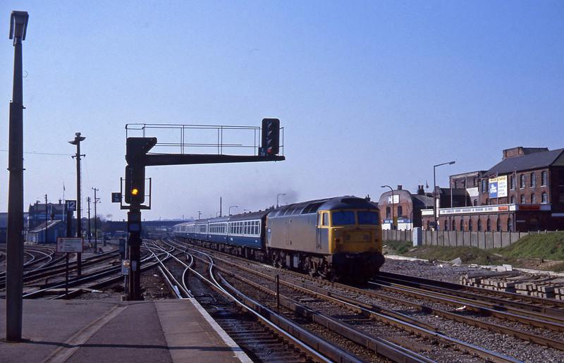 47575, up passenger, Eastleigh, 14-4-82.