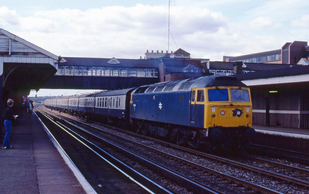 47063, down passenger, Eastleigh, 21-8-82.