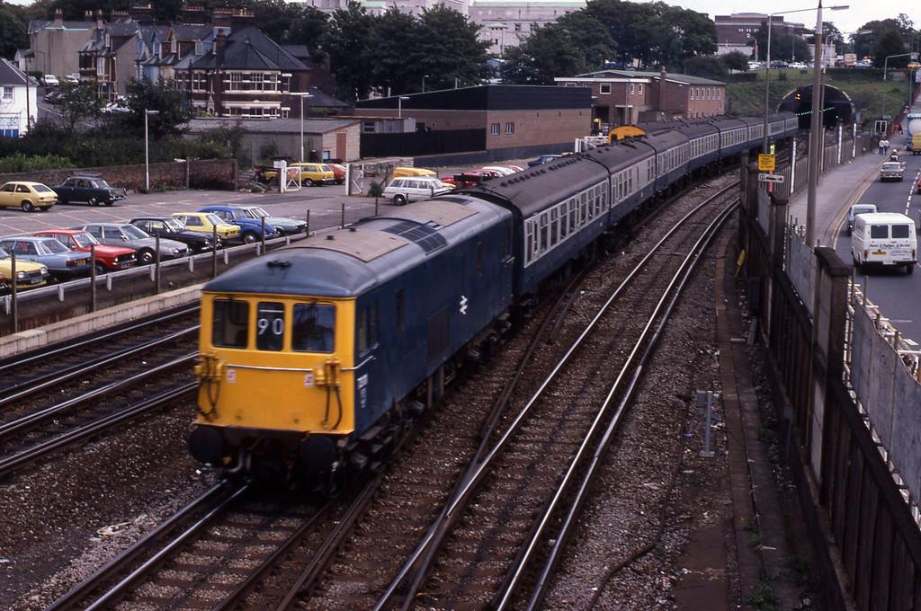 73111, down passenger, Southampton Central, 23-8-82.