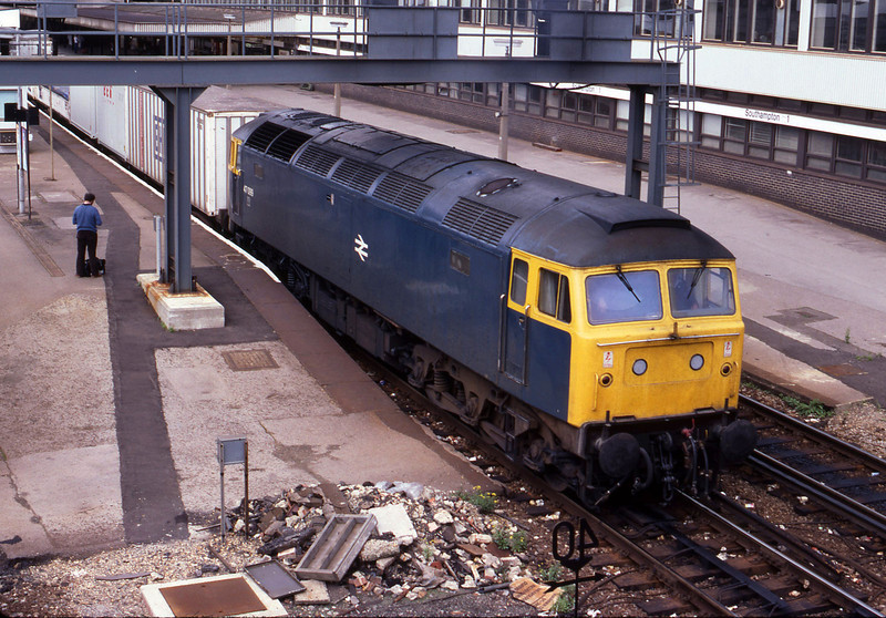 47099, up passenger, Southampton Central, 23-8-82.