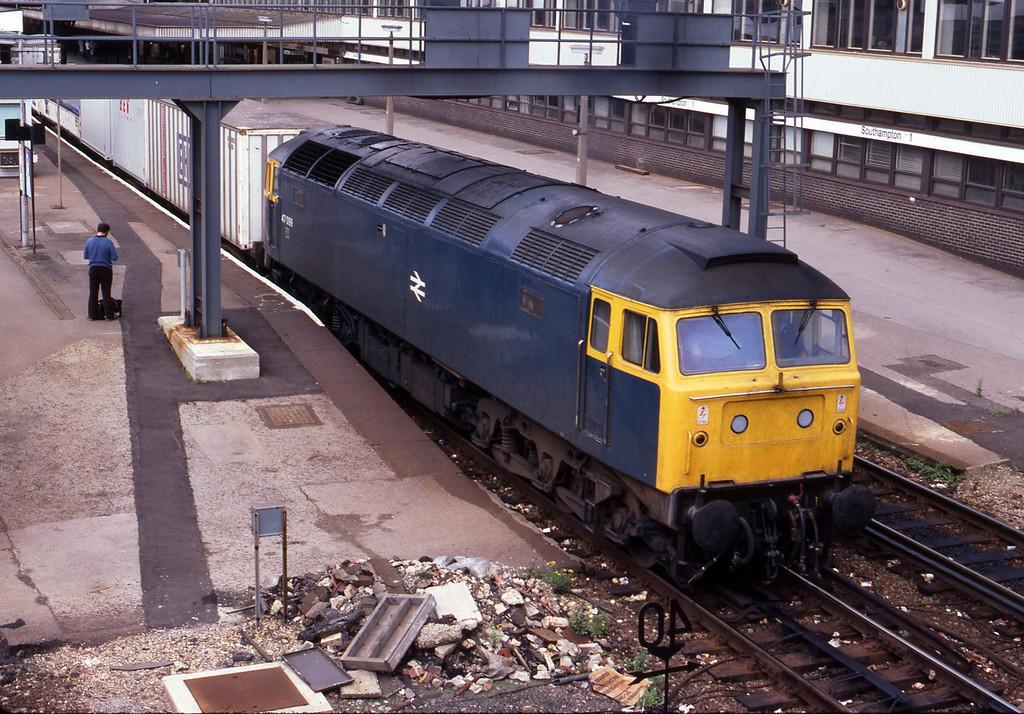 47099, up passenger, Southampton Central, 23-8-82.