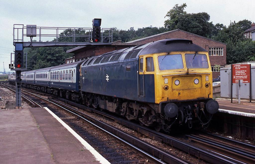 47417, up passenger, Southampton Central, 23-8-82.