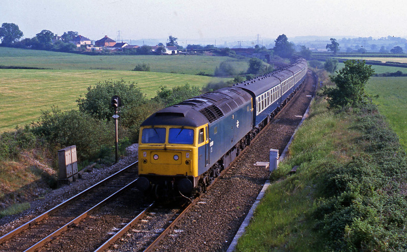 47069, up passenger, Willand, near Tiverton, 4-6-82.