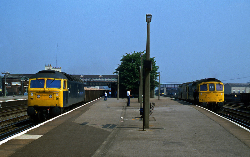 47089, down ballast, 33008/73121, Eastleigh, 1-6-82.