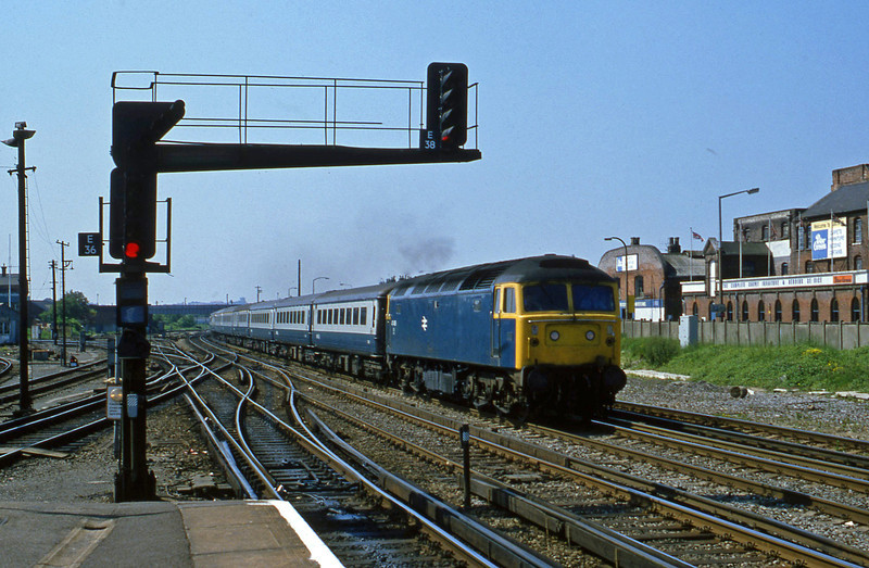 47408, up passenger, Eastleigh, 21-5-82.