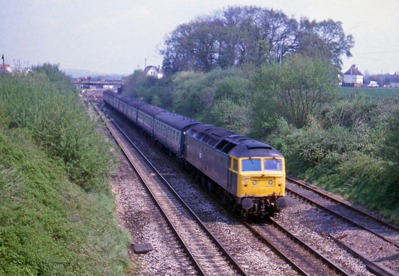 47575, down passenger, Willand, near Tiverton, 8-5-82.