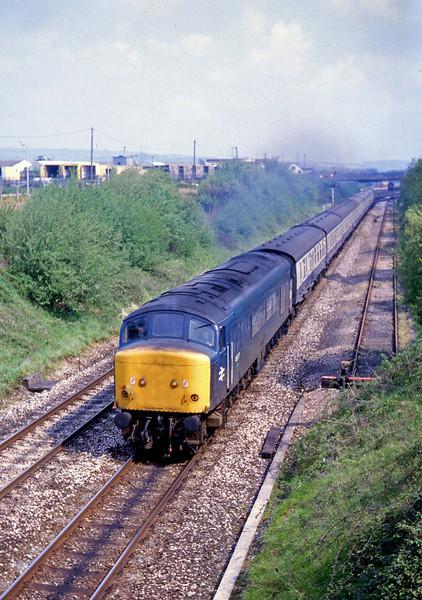 45077, Lichfield Trent Valley-Paignton, Willand, near Tiverton, 8-5-82.