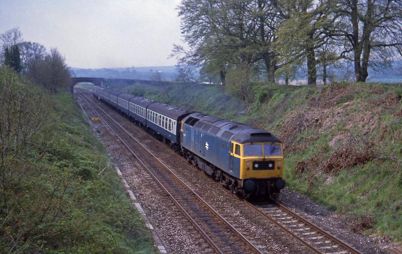 47035, up passenger, Willand, near Tiverton,  8-5-82.