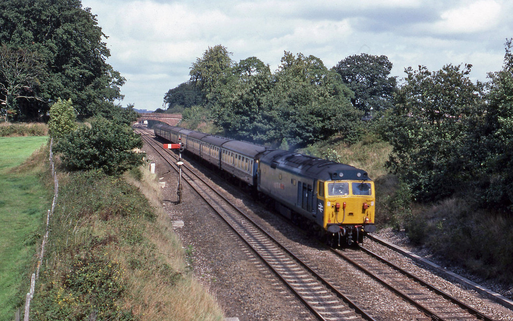 50, down passenger, Willand, near Tiverton, 7-9-82.