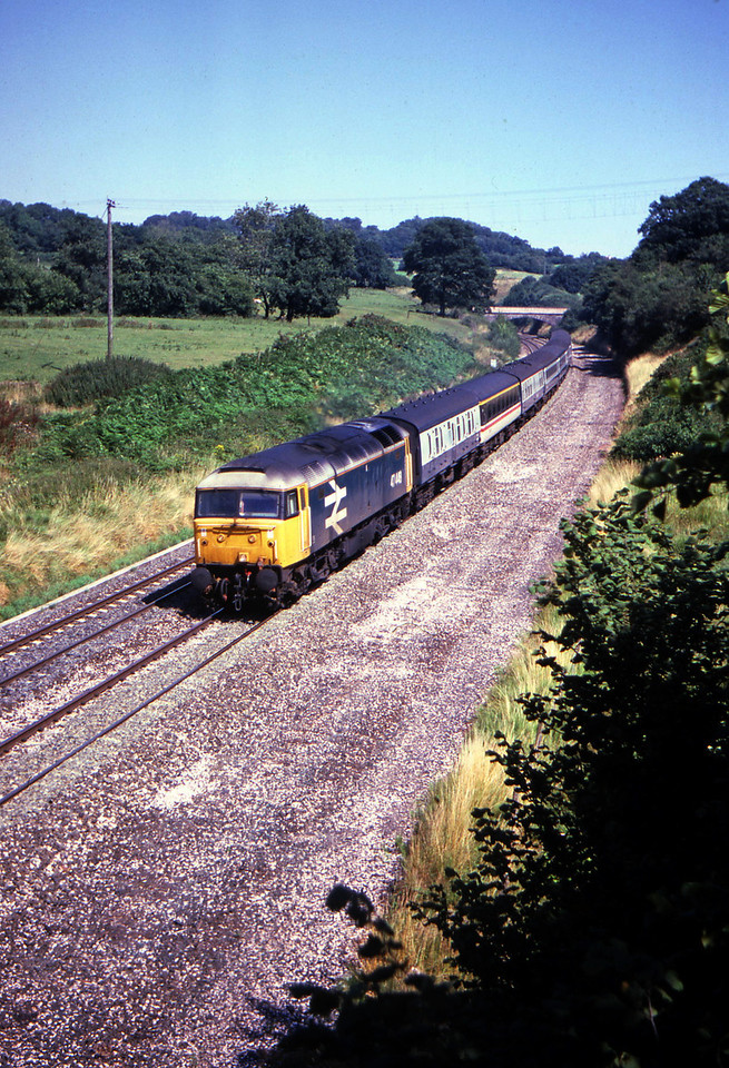 47448, 09.20 Liverpool-Penzance, Whiteball, 15-8-87.